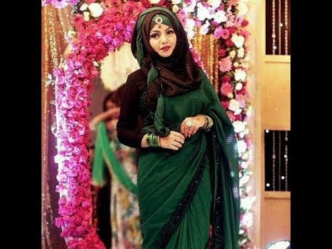 Hijab Style With Saree Indian Pakistani Bangladeshi