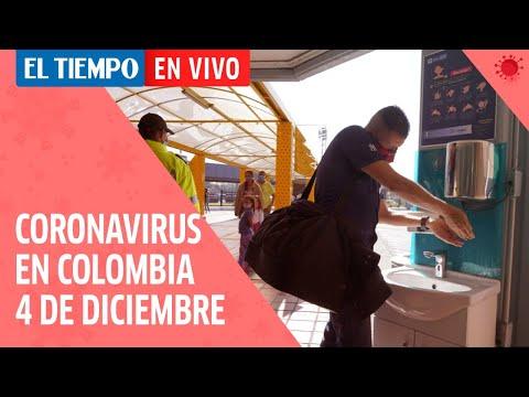 Coronavirus en Colombia: 4 de Diciembre del 2020