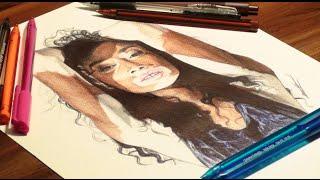 Winnie Harlow Drawing - DeMoose Art