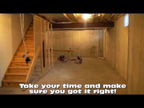 how to frame out basement walls this old house doovi