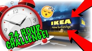 24 HOUR OVERNIGHT CHALLENGE IN IKEA! (SANTA'S GROTTO)