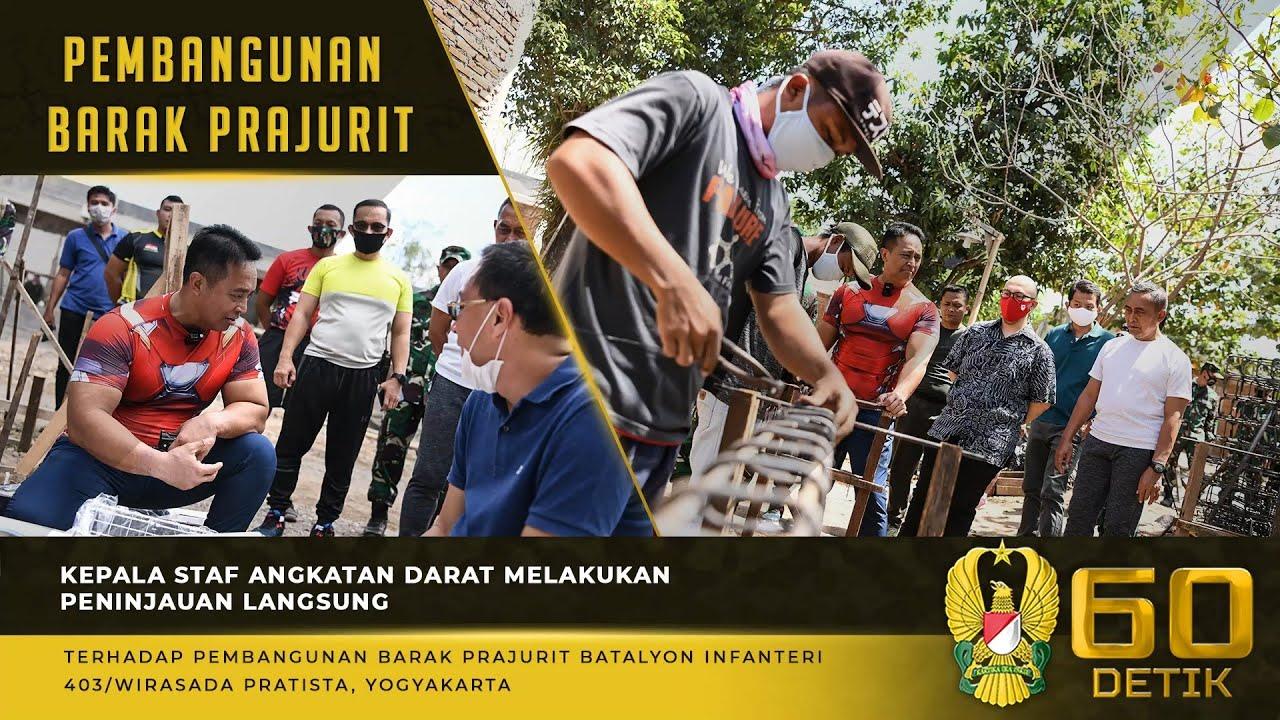 Peninjauan Pembangunan Barak Prajurit Batalyon Infanteri 403/Wirasada Pratista, Yogyakarta