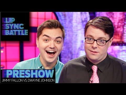 jimmy fallon vs dwayne johnson lip sync battle preshow youtube