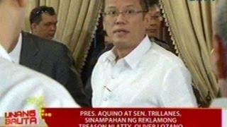 UB: PNoy at Sen. Trillanes, sinampahan ng reklamong Treason ni Atty. Oliver Lozano