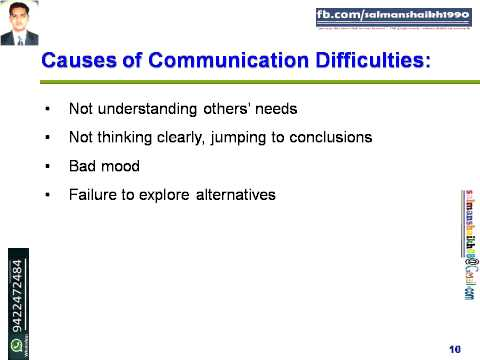 10 Causes Of Communication Difficulties