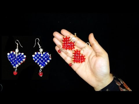 How To Make Beaded Earrings || Crystal Beaded Earrings Tutorial ||  You Can Do This