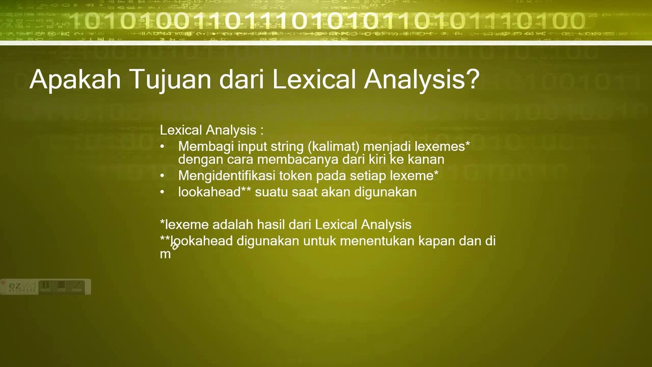 Teknik Kompilasi (Lexical Analysis Example & Short Explanation ...