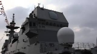 護衛艦いずもにTridentの3人が乗艦しますた。
