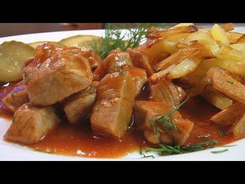 Гуляш из телятины видео рецепт. Книга о вкусной и здоровой пище