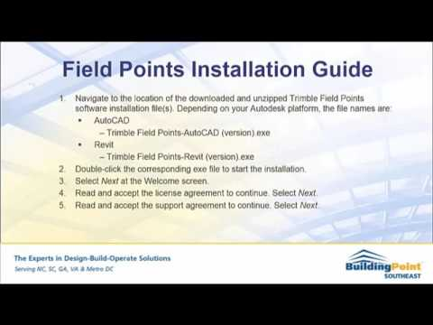Trimble Field Points Installation Guide