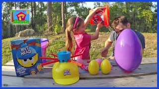 Wet Head Challenge Game & Water Roulette Surprise Eggs Toys