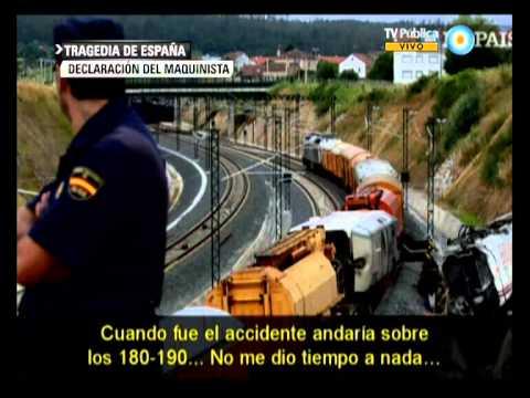Visión 7: Tragedia en España: El maquinista del tren reconoció que circula ...