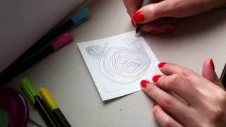 4 урок по рисованию. (Зентангл. Дудлинг. Раскраски антистресс.)