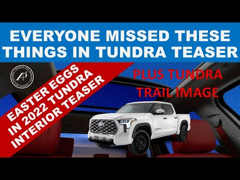 WHAT OTHERS MISSED IN 2022 TOYOTA TUNDRA MOONROOF TEASER (EASTER EGGS) - PLUS Tundra Trail Image!