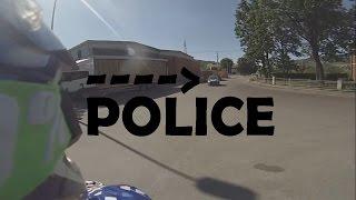 Nice Police Getaway with dirt bike