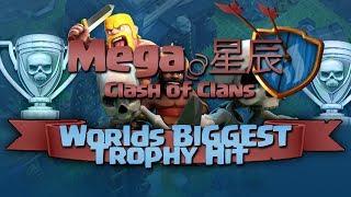 Clash of Clans - Worlds Biggest CHAMPION League Trophy Hit! (+1.4MILLION LOOT)