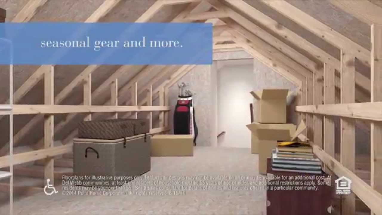 Inspired Designs By Del Webb 174 Fixed Attic Stairs Youtube
