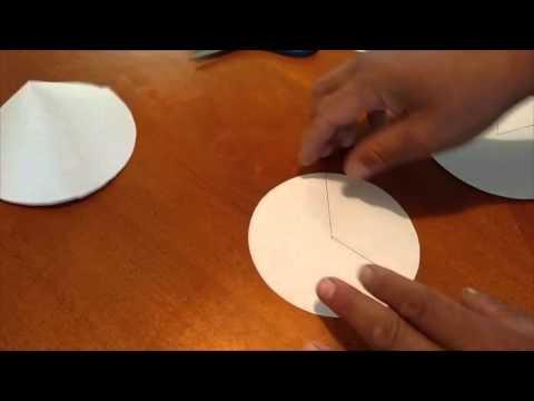 C mo hacer un cono f cil sin c lculos y r pido parte 1 - Como hacer un cono ...
