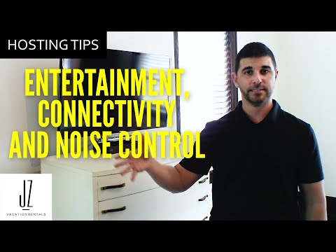 Airbnb Tech For Entertainment Connectivity And Noise Control (Hosting Tip Series) // Alex Zemianek