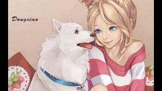 аниме собаки