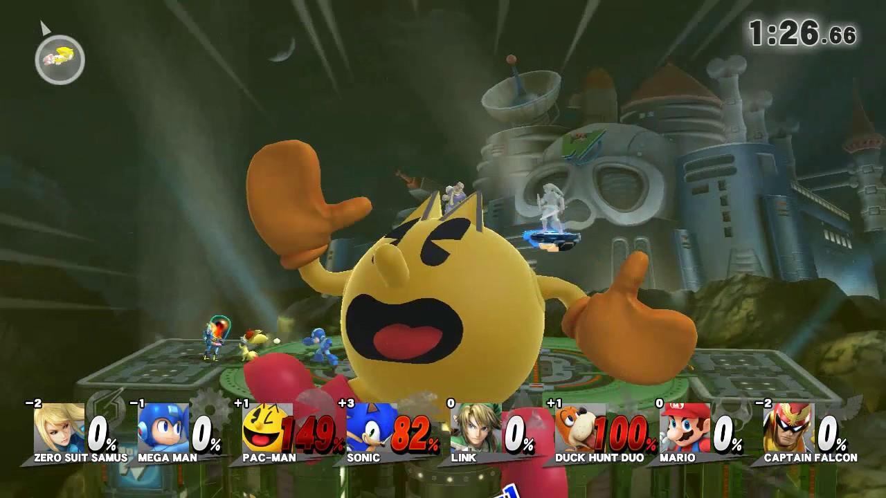 Mario Vs Sonic Vs Megaman Vs Pacman Super Smash Bros Wii U...