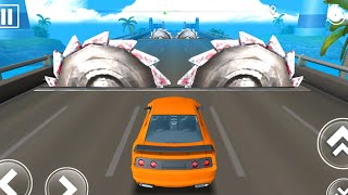 DEADLY RACE #14 Speed Orange Car Bumps Challenge 3d Gameplay Android IOS