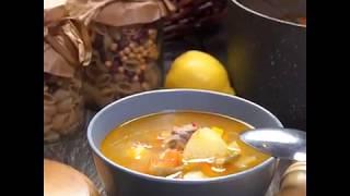 Рецепт овощного супа с говядиной  | Говяжий суп со стручковой фасолью