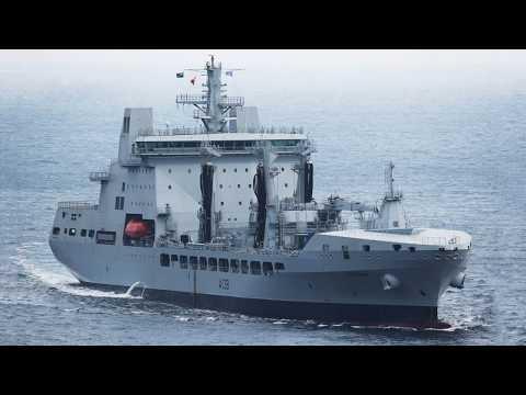 英國海軍 潮級油彈補給艦 剪輯 England Navy Tide-class Oil bomb supply ship