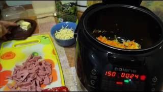 Домашние видео рецепты -  суп с лапшой и колбасой в мультиварке