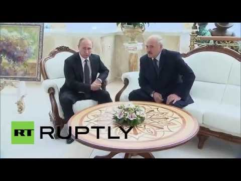 Belarus: 'I don't sleep much', Putin tells Lukashenko on Minsk trip