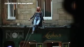 Avengers infinity war aerial stunt shooting | elizabeth olsen shooting stunt | scarlet witch vision