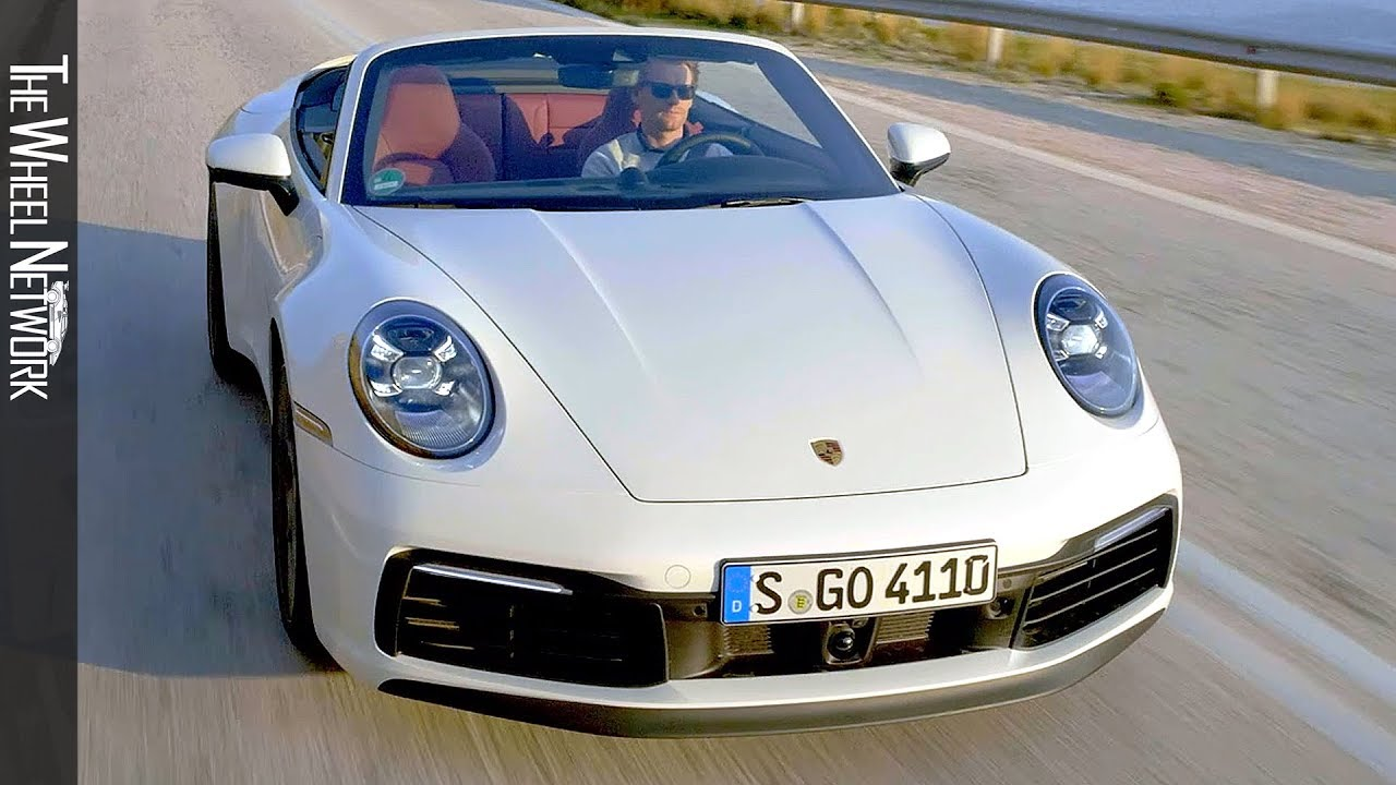 2020 Porsche 911 Carrera S Cabriolet Carrara White Metallic Driving Interior Exterior Youtube