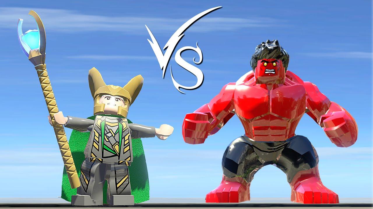Loki Vs Red Hulk - LEGO Marvel Super Heroes - YouTube