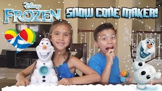 Frozen OLAF SNOW CONE MAKER! Summer Treat Making Fun!