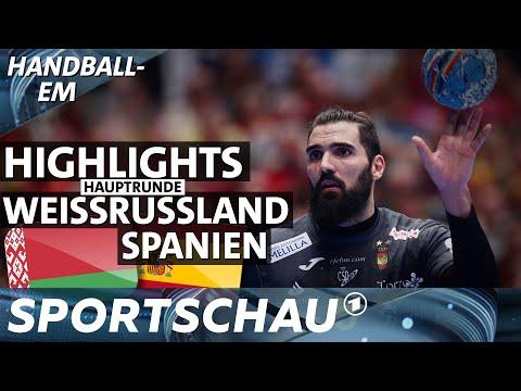 Spanien gegen Weißrussland - die Highlights | Handball-EM | Sportschau