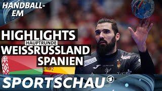 Spanien gegen Weißrussland - die Highlights   Handball-EM   Sportschau