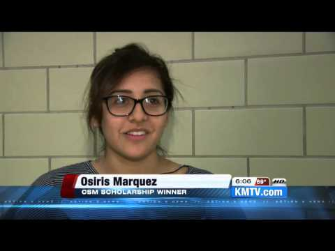 College of Saint Mary surprised Osiris Marquez with $80,000 Scholarship
