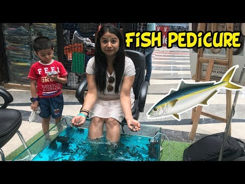 Iam Enjoying Fish Pedicure || Deepti Vlog
