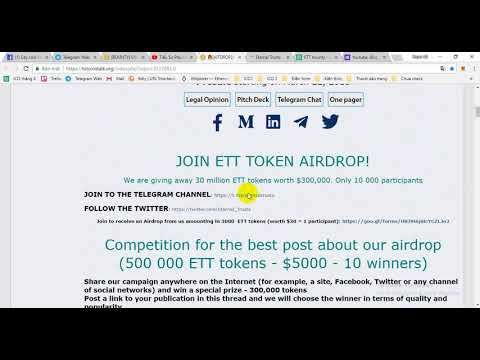 Eternal Trusts - Join to receive an Airdrop from us amounting in 3000  ETT tokens