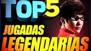 TOP 5 - LEGENDARY PLAYS on League of Legends.