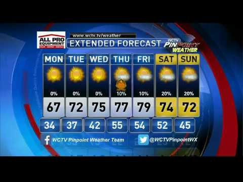 WCTV-6, Thomasville, GA, November 20, 2016, 11pm newscast, Brittany Bedi weather segment