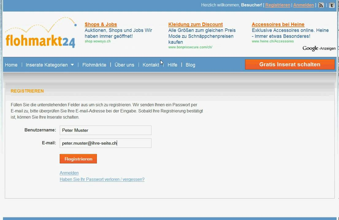 Online gratis inserate