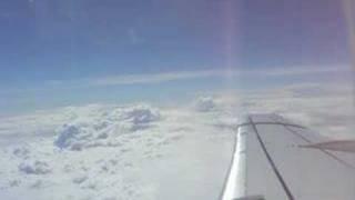 vue de l'avion au dessus de la france
