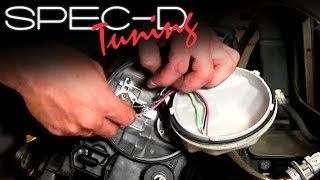 specdtuning installation video how to replace light bulbs on tm projector head lights