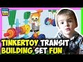 Tinker toys transit building set
