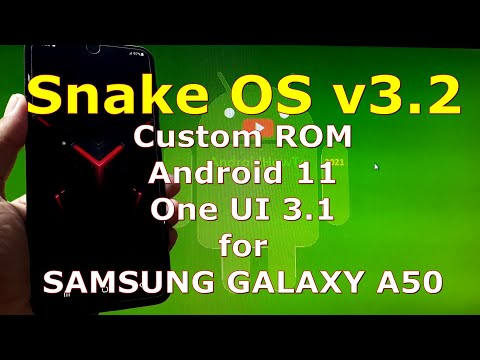 Snake OS v3.2 Custom ROM for Samsung Galaxy A50 Android 11 One UI 3.1
