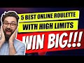 Best Online Roulette With High Limits 🎰TOP 5 Roulette Games 🎰