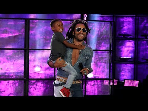 Lisa St. Regis - 5 Year Old Super-Cutie Phenom Drummer Meets His Hero Lenny Kravitz