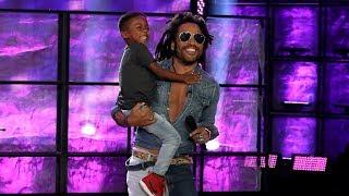 Lenny Kravitz Surprises Kid Drummer Justin Wilson II