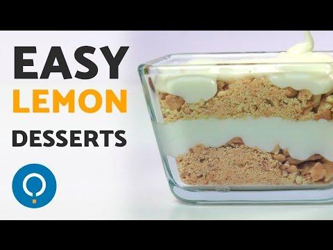 Easy Lemon Desserts - No Bake Healthy Recipes